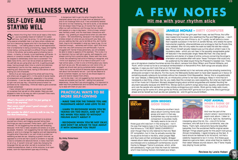 Wellness Watch: Self Love and Staying Well Magazine Article