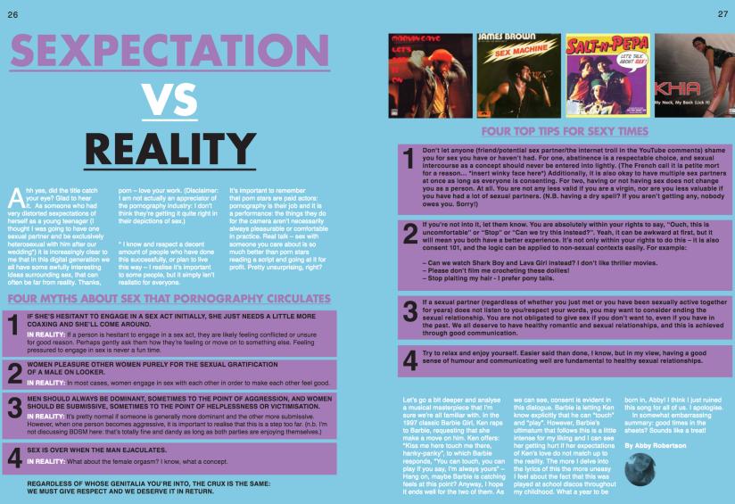 Sexpectations vs Reality Magazine Article