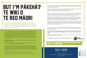 But I'm Pākehā: Te Wiki o Reo Māori Magazine Article